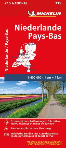 Michelin 715 Niederlande; Straßenkarte; 1:400.000