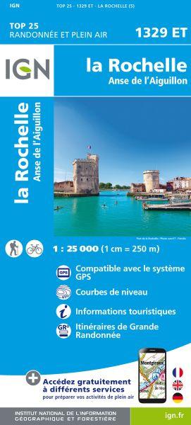 IGN 1329 ET La Rochelle, Anse de L'Aiguillon, Frankreich topographische Wanderkarte