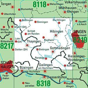 8218 GOTTMADINGEN topographische Karte 1:25.000 Baden-Württemberg, TK25