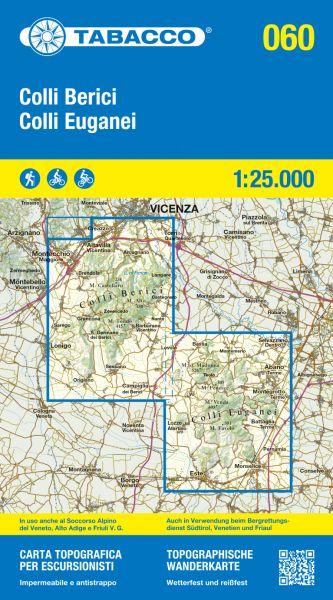 Tabacco 060 Colli Euganei / Euganeische Hügel Trentino Wanderkarte