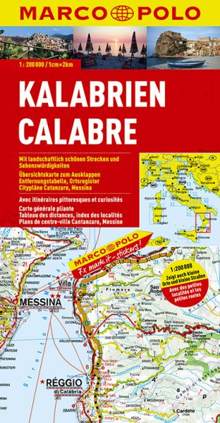 Kalabrien Straßenkarte 1:200.000, Marco Polo Italien Blatt 13