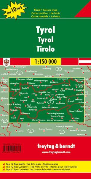 Tirol, Straßenkarte 1:150.000, Freytag und Berndt