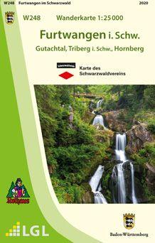 Furtwangen im Schwarzwald W248 Wanderkarte 1:25.000, Schwarzwaldverein
