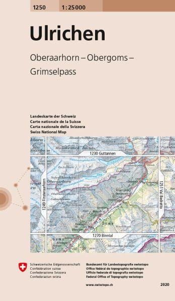 1250 Ulrichen topographische Wanderkarte Schweiz 1:25.000