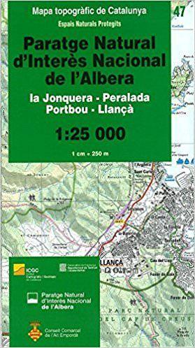 Paratge Natural d'Interès Nacional de l'Albera, Katalonien topographische Karte 1:25.000