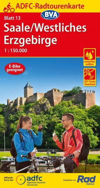 ADFC Radtourenkarte 13, Saale - Westliches Erzgebirge Radkarte 1:150.000