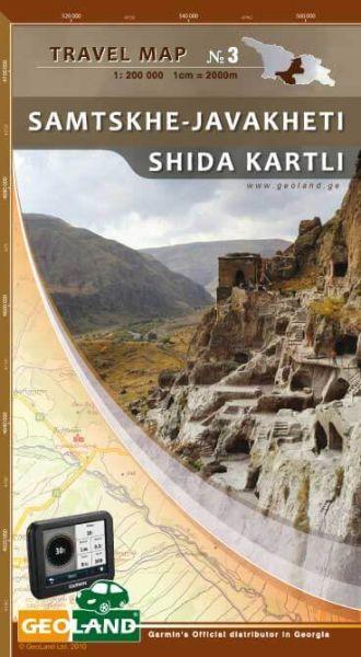 Samtskhe - Javakheti, Shida Kartli - Georgien Straßenkarte 1:200.000
