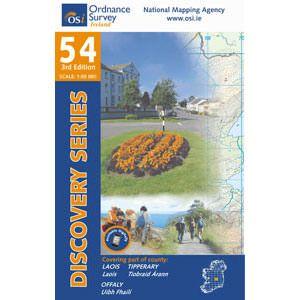 OSI 54 Laois, Offaly, Tipperary, Wanderkarte