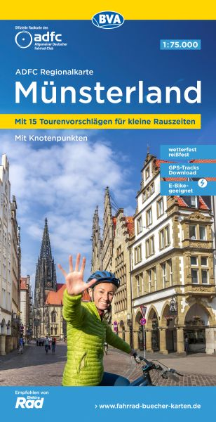 ADFC-Regionalkarte, Münsterland, Radwanderkarte
