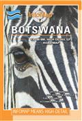 Botswana Landkarte 1:1.100.000 mit GPS-Koordinaten, InfoMap