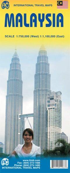 Malaysia Landkarte west 1:750.000 / ost 1:1.100.000, ITM