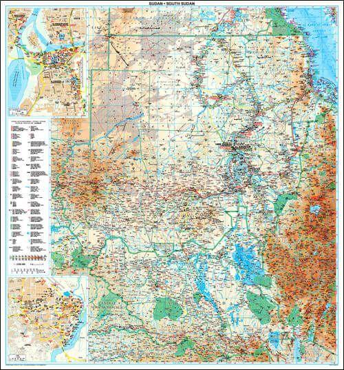 GIZI Länderkarte Sudan Posterkarte 94 cm x 88 cm