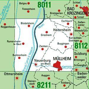 8111 MÜLLHEIM topographische Karte 1:25.000 Baden-Württemberg, TK25