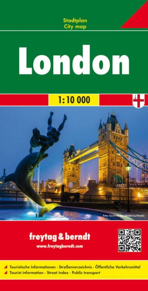 London, Stadtplan 1:10.000, Freytag und Berndt