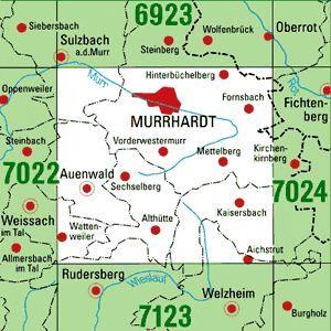 7023 MURRHARDT topographische Karte 1:25.000 Baden-Württemberg, TK25