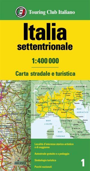 Norditalien Straßenkarte, TCI, 1:400.000