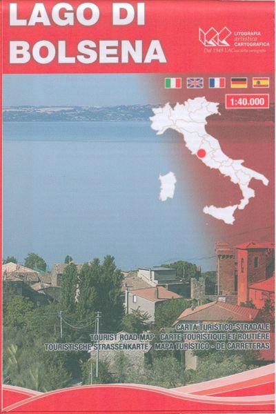 L.A.C touristische Straßenkarte Bolsena See (Lago di Bolsena) 1:40.000