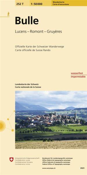 252 T Bulle Wanderkarte 1:50.000 wasserfest - Swisstopo