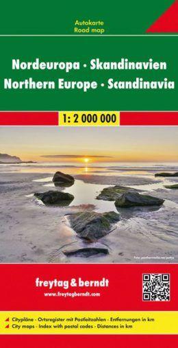 Nordeuropa und Skandinavien Übersichtskarte mit Fernstraßen 1:2.000.000, Freytag und Berndt