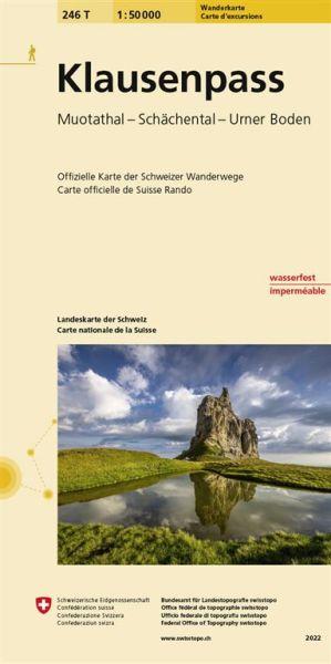 246 T Klausenpass Wanderkarte 1:50.000 - Swisstopo