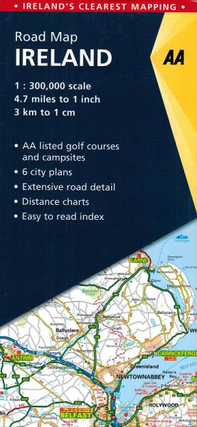 AA Straßenkarte Irland 1:300.000