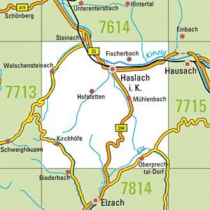 7714 HASLACH I.K. topographische Karte 1:25.000 Baden-Württemberg, TK25