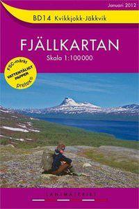 Fjällkartan BD14 Schweden Trekking- und Wintersportkarte 1:100.000
