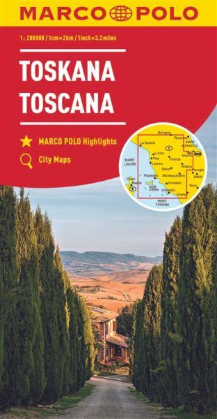 Toskana Straßenkarte 1:200.000, Marco Polo Italien Blatt 7