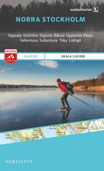Norra / Nord- Stockholm, Outdoorkartan Blatt 26, Schweden Wanderkarte 1:50.000