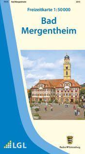Bad Mergentheim Freizeitkarte in 1:50.000 - F515 mit Rad- und Wanderwegen