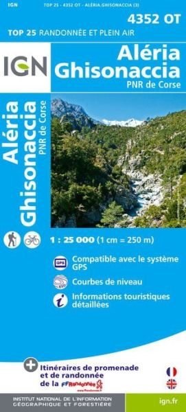 IGN 4352 OT Aleria - Ghisonaccia, Korsika Wanderkarte 1:25.000