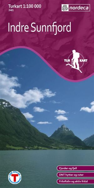 Indre Sunnfjord Wanderkarte 1:100.000 – Norwegen, Turkart 2481 von Nordeca