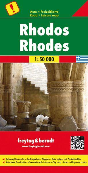 Rhodos, Landkarte 1:50.000, Freytag und Berndt
