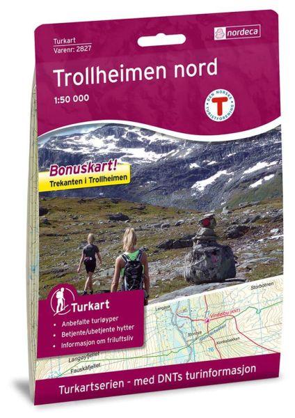 Trollheimen Nord Wanderkarte 1:50.000 – Norwegen, Turkart 2827 von Nordeca