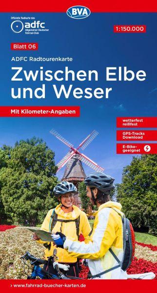 ADFC Radtourenkarte 6, Zwischen Elbe und Weser Radwanderkarte 1:150.000
