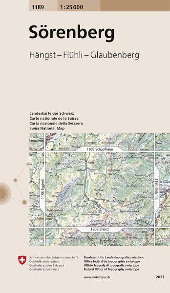 1189 Sörenberg topographische Wanderkarte Schweiz 1:25.000