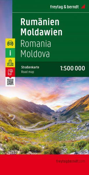 Rumänien, Moldau, Straßenkarte 1:500.000, Freytag und Berndt