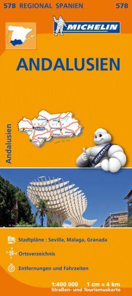 Michelin regional 578 Andalusien; Straßenkarte