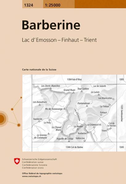 1324 Barberine topographische Wanderkarte Schweiz 1:25.000