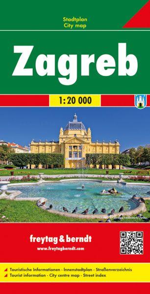 Zagreb, Stadtplan 1:15.000, Freytag und Berndt