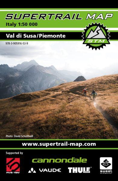 Supertrail Map Val di Susa Piemonte Mountainbikekarte, 1:50.000, reiß- und wasserfest (STM)