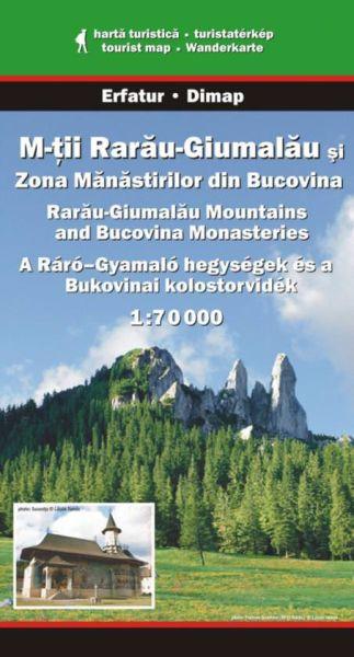 Karpaten Wanderkarte: Muntii Rarau - Giumalau, Bucovina