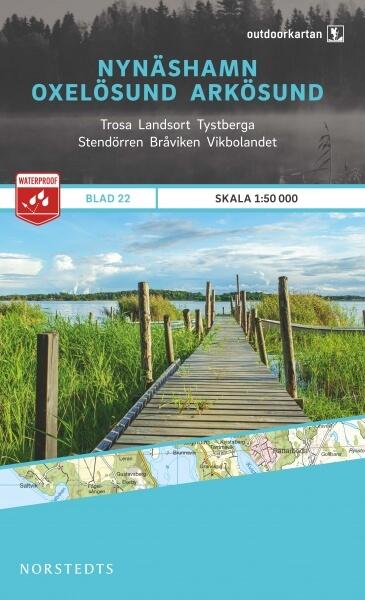 Nynäshamn - Oxelösund - Arkösund, Outdoorkartan Blatt 22, Schweden Wanderkarte 1:50.000