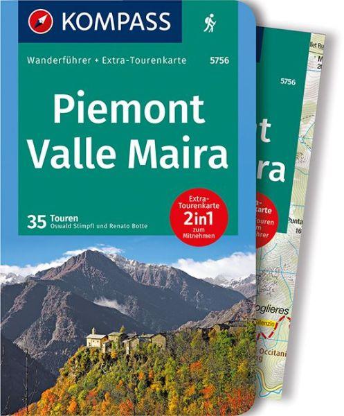 Piemont, Valle Maira mit Karte, Kompass Wanderführer