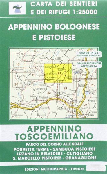 Edition Multigraphic, Appennino Bolognese e Pistoiese Blatt 21, Toskana/Emilia, 1:25.000