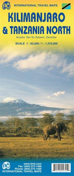 Kilimandscharo & Nord Tansania Landkarte, ITM