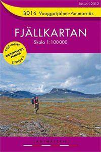 Fjällkartan BD16 Schweden Trekking- und Wintersportkarte 1:100.000