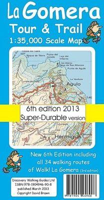 La Gomera Wanderkarte 1:35.000 Tour & Trail Map, reiss- und wasserfest