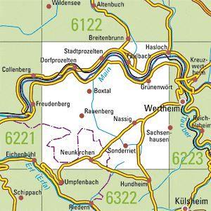 6222 STADTPROZELTEN topographische Karte 1:25.000 Baden-Württemberg, TK25