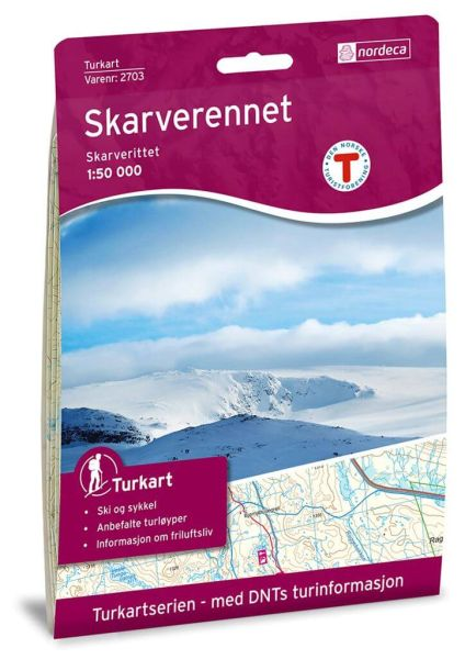 Skarverennet Wanderkarte 1:50.000 – Norwegen, Turkart 2703 von Nordeca